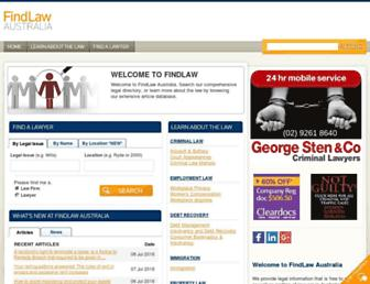 Thumbshot of Findlaw.com.au