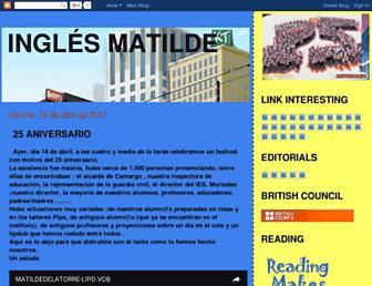 inglesmatilde.blogspot.com screenshot