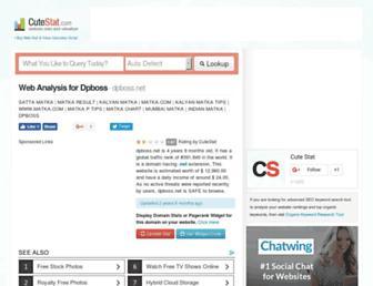 dpboss.net.cutestat.com screenshot