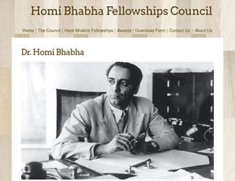 homibhabhafellowships.com screenshot
