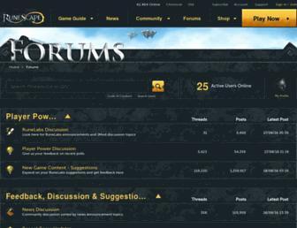 forum.runescape.com screenshot