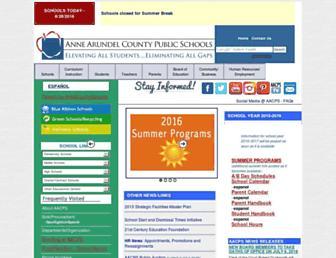 aacps.org screenshot