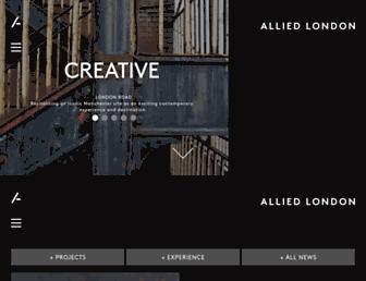 alliedlondon.com screenshot