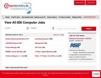 computerjobs.ie screenshot