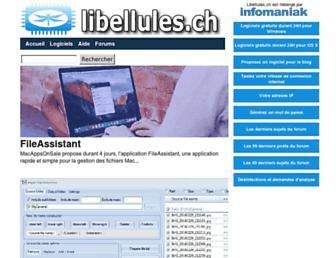 Main page screenshot of libellules.ch