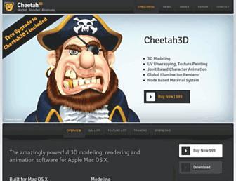 cheetah3d.com screenshot