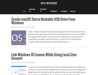 intowindows.com screenshot