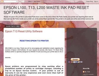 epsoninkreset.blogspot.com screenshot