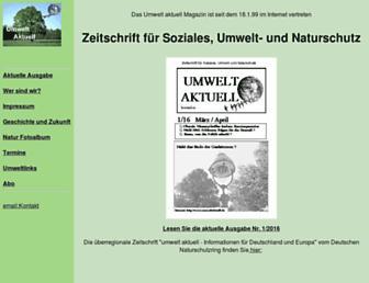 Main page screenshot of umweltaktuell.de