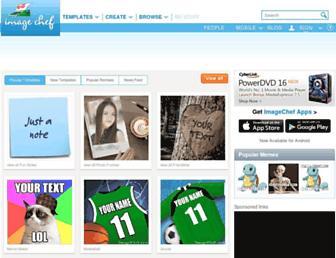 m.imagechef.com screenshot