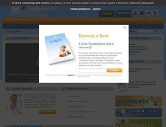 Main page screenshot of emaluszki.pl