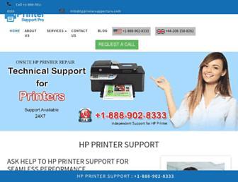 hpprintersupportpro.com screenshot