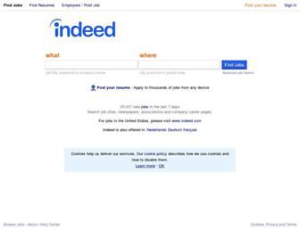 be.indeed.com screenshot
