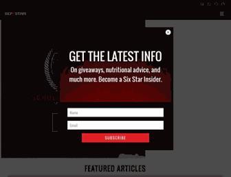 Thumbshot of Sixstarpronutrition.com