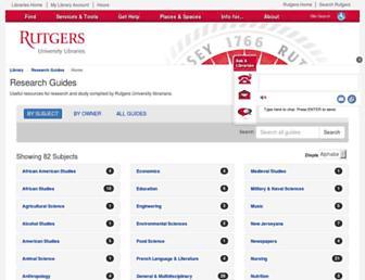 Main page screenshot of libguides.rutgers.edu