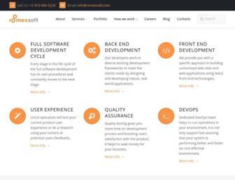 romexsoft.com screenshot