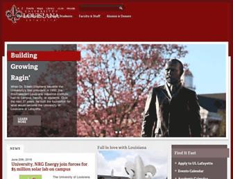 Main page screenshot of louisiana.edu