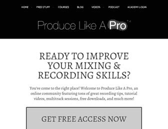 producelikeapro.com screenshot