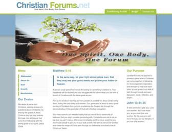 Main page screenshot of christianforums.net