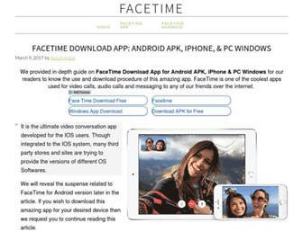 ifacetimeapp.com screenshot