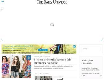 Main page screenshot of universe.byu.edu
