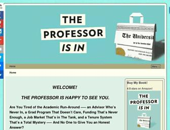theprofessorisin.com screenshot