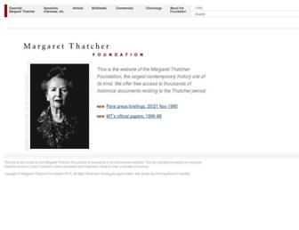 margaretthatcher.org screenshot