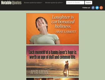 Thumbshot of Notable-quotes.com