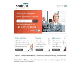 Main page screenshot of seohunger.de