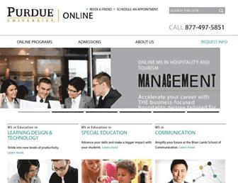 online.purdue.edu screenshot