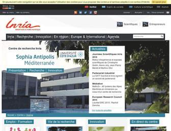 www-sop.inria.fr screenshot