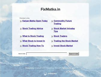 fixmatka.in screenshot
