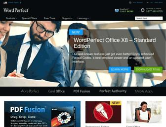 wordperfect.com screenshot