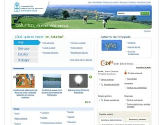 Main page screenshot of movil.asturias.es
