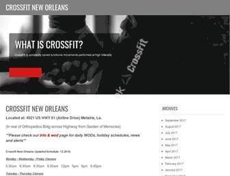 Main page screenshot of crossfitneworleans.net