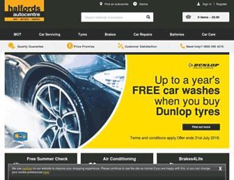 halfordsautocentres.com screenshot