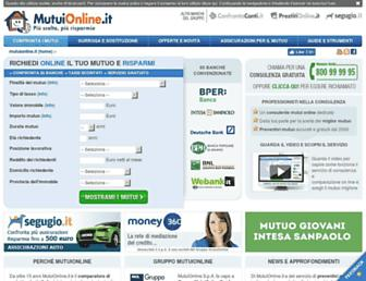 Main page screenshot of mutuionline.it