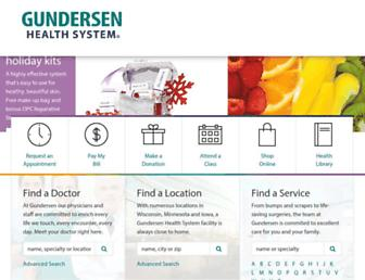 gundersenhealth.org screenshot