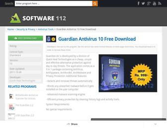 guardian-antivirus.www.software112.com screenshot