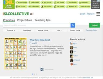 en.islcollective.com screenshot