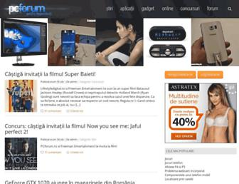 Main page screenshot of pcforum.ro