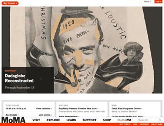 Main page screenshot of moma.org
