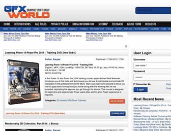 Main page screenshot of gfxworld.ws