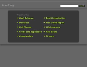 Main page screenshot of troop7.org