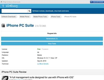 iphone-pc-suite.en.lo4d.com screenshot
