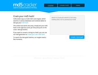 Thumbshot of Md5cracker.org