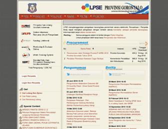 lpse.gorontaloprov.go.id screenshot