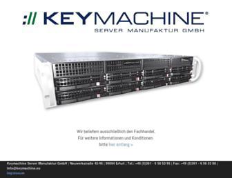 Main page screenshot of keymachine.de