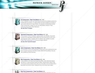 Main page screenshot of patrickjansen.net