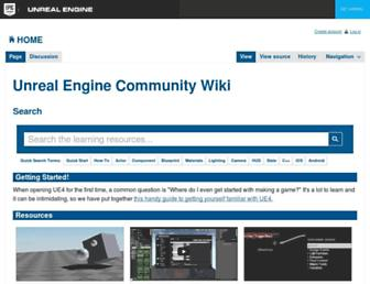 wiki.unrealengine.com screenshot